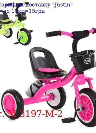 Велосипед M 3197-M-2 три кол, EVA, передн, корзинка, бутылка, ...