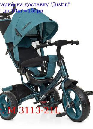 Велосипед M 3113-21L три кол, EVA (12/10), колясочный, бистрос...