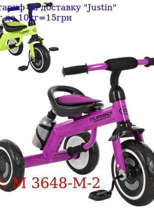 Велосипед M 3648-M-2 три кол, EVA, бутылка, наклад, на сид, ру...
