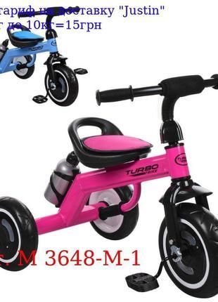 Велосипед M 3648-M-1 три кол, EVA, бутылка, наклад, на сид, ру...