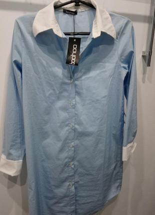 Платье-рубашка удлиненная рубашка