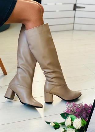 Lux обувь! 😍шикарные натуральные кожаные зимние сапоги