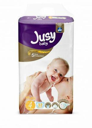 """Детские подгузники """"Jusy maxi"""" 4 (7-18 кг) Jmaxi32"""