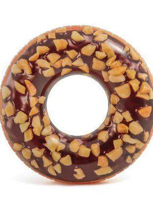 """Круг надувной """"Шоколадный пончик"""" (114 см) 56262"""