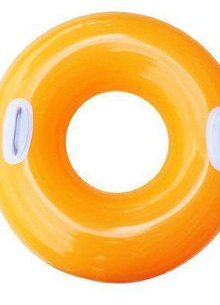 Надувной круг для плавания (оранжевый) 59258