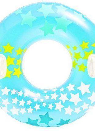 """Круг надувной """"Звездочки"""", 91 см (голубой) 59256"""