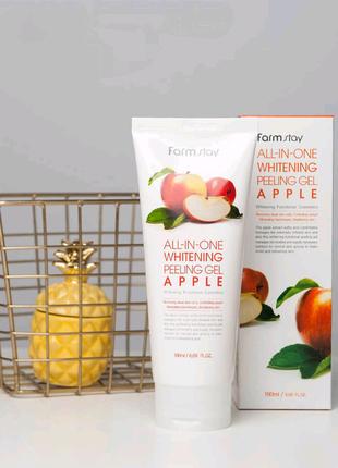 Пилинг-скатка для лица с экстрактом яблока 🍎FarmStay All-In-One