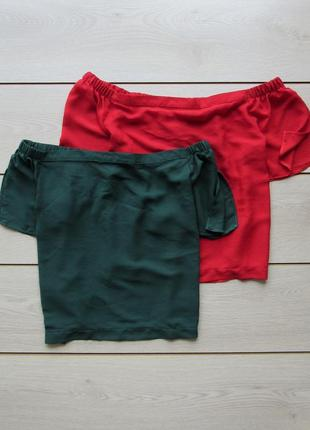 Акция к лету №52 шифоновая блуза футболка со спущенными плечам...