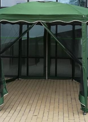 Шатер шестигранный тканевый,павильон 3.6м х 3.6м беседка,альтанка