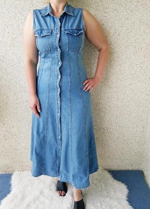 Джинсовое платье,сарафан