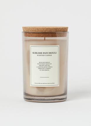 Ароматическая свеча h&m home sublime patchouli пачули