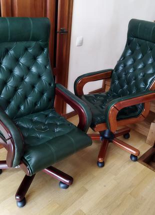 Нове шкіряне крісло керівника, деректора, новое офисное кресло