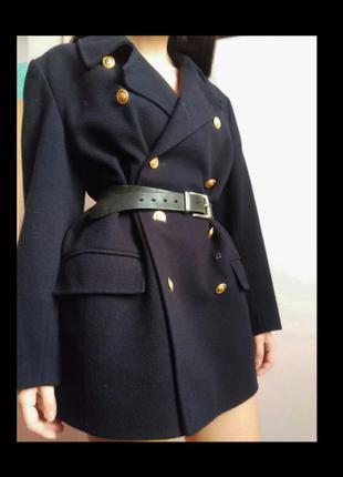 Класичне 100% шерстяне пальто піджак прямого крою