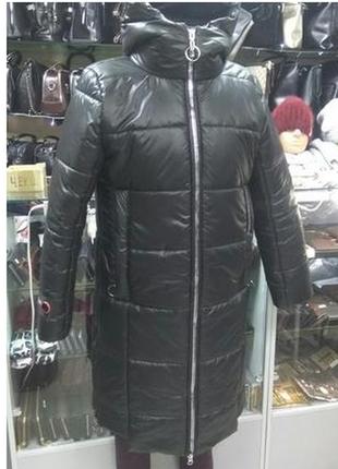 Куртка зима, пальто, удлиненная женская.