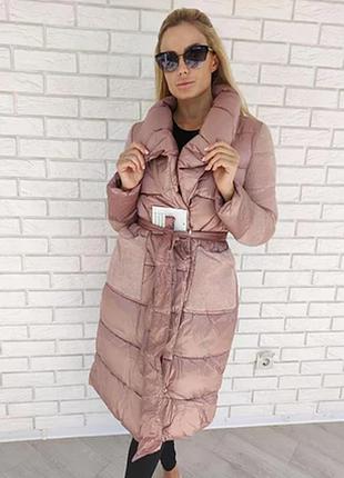 Куртка,пальто с поясом женское. зима