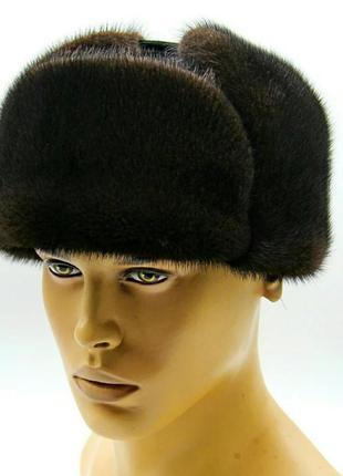 Норкавая ушанка натуральный мех шапка