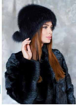 Новая шапка натуральный мех песец