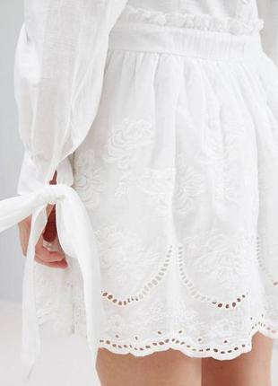 Ликвидация товара 🔥  белое свободное платье с вышивкой ришелье...