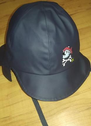 Непромокаемая шапка детская для дождя на 3-6 лет