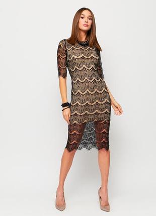 Платье миди кружево черное karree