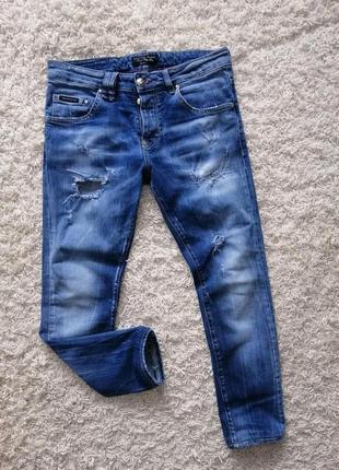 Брендовые рваные мужские джинсы philipp plein 32 в прекрасном ...