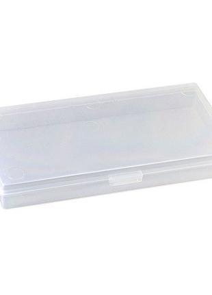 Коробка органайзер кейс для снастей бисера 145х75x15мм без ячеек