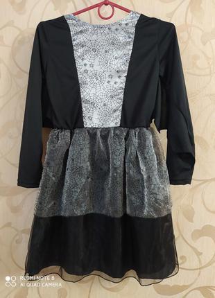 Платье паутина  на хелоуин
