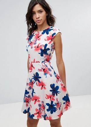 Ликвидация товара 🔥   воздушное мини платье в крупные цветы