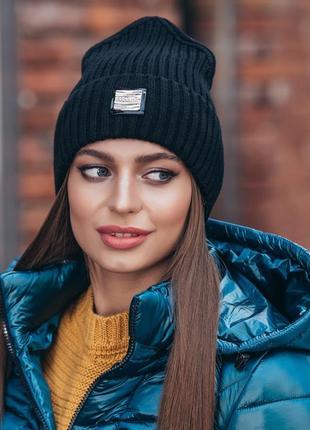 Демисезонная шапка-колпак в стиле casual