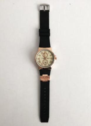 Часы наручные ulysse nardin white ремешок черный