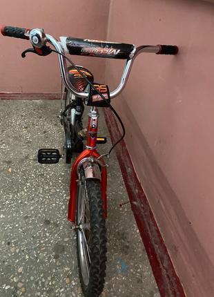 Детский велосипед Mustang Тачки 16 Рост 95-115 Возраст от 4 до 7