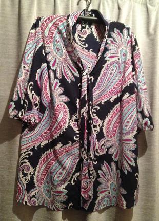 Блузочка с принтом большого размера.281