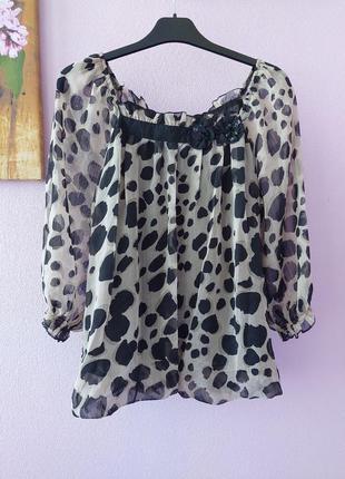 Женская леопардовая блузка