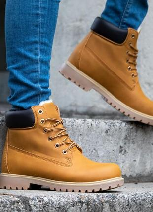 ✳️зимние✳️коричневые мужские ботинки как timberland/тимберленд...
