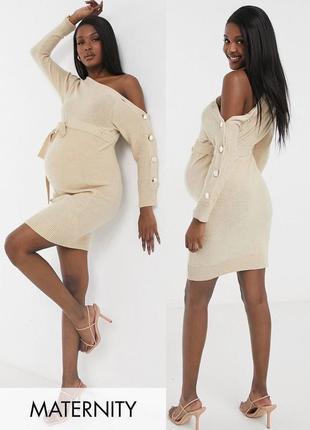 Вязаное платье для беременных