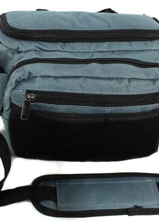 Сумка спиннингиста P-97, (серая) сумка для рыбака