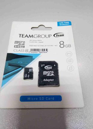 Карты флэш-памяти Б/У MicroSD 8Gb + adapter
