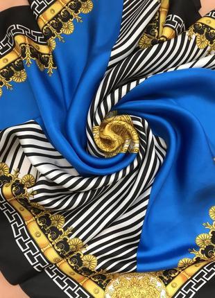Невероятный 🌷🌷🌷💯шелковый платок, италия 🇮🇹, 87х87.
