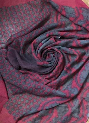 Шерстяной ♥️👑♥️ большой шарф палантин из шерсти 184х74.