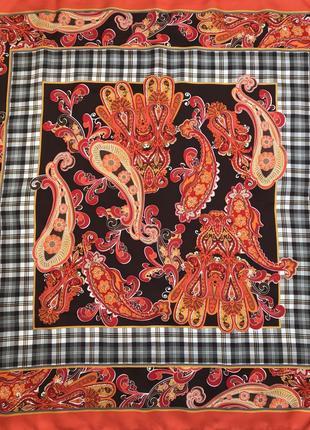Новый ♥️👑♥️ шелковый платок из шёлка италия, роуль.
