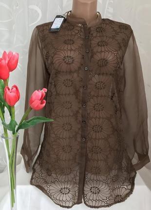 Люкс ♥️👑♥️ шелковая блузка с прошвой ana sebastian, 200 евро.