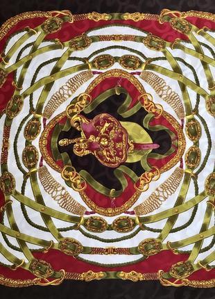 Стильный ♥️👑♥️ шелковый платок из шёлка италия, 85х83.
