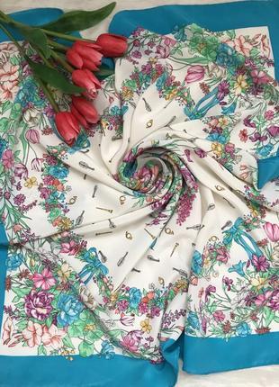 Нежный 🦋👑🦋шелковый платок creazione serica lariana, италия.