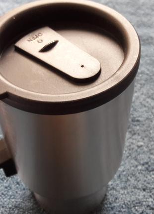 Термокружка с подогревом от прикуривателя любителям горячих напит