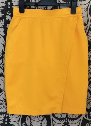 Яркая ♥️👑♥️ люксовая хлопковая юбка карандаш escada, германия.