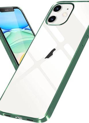 Прозрачный силиконовый чехол с глянцевой окантовкой для Apple ...