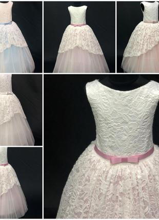 Нарядное бальное детское платье Анита