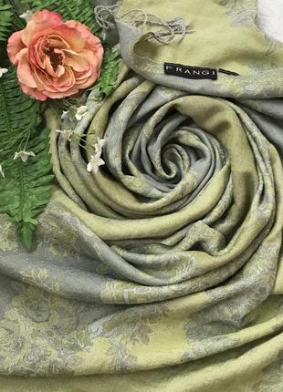 Двухсторонний ♥️😎большой шерстяной шарф палантин frangi.