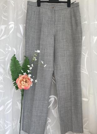 Серые 🌺😎 шерстяные брюки из шерсти peter hahn zara.