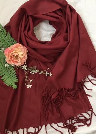Красный ♥️😎 шерстяной шарф палантин thapar .